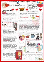 English Worksheet: Valentine´s day