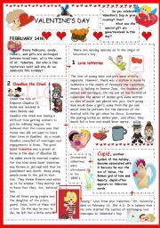 English Worksheet: Valentine´s day