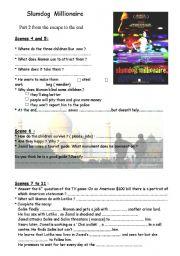 English Worksheets: slumdog millionaire: worksheets on the movie (2/2)