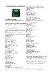 English Worksheets: I gotta feeling - Black eyed peas