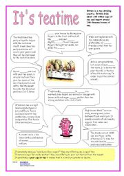 English Worksheets: IT´S TEATIME