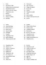 Scattergories Lists 1-12 Printable