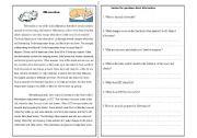 English Worksheets: animal Hibernation