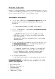 English Worksheets: Analysing Texts - How to worksheet