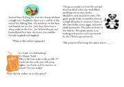 English Worksheets: Authors purpose