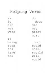 "Search Results for ""23 Helping Verbs List"" – Calendar 2015"