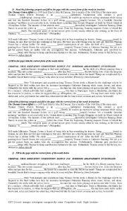 English Worksheets: Movie: Thomas Crown Affair