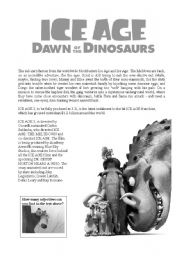 Ice Age Dawn of the Dinosaurs ADJECTIVES