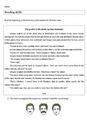 English Worksheets: The proof is in the photo, investigation