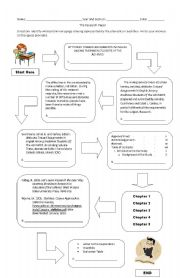 English Worksheets: Research Preliminary pages