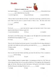 English Worksheets: Heart