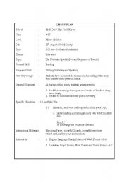English Worksheets: The Fruitcake Special - Characters, sequence of event and plot