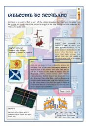 English Worksheet: Scotland: Welcome to Scotland