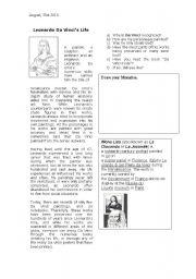 English Worksheet: Monalisa