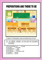 PREPOSITIONS OF PLACE AND VERB THERE TO BE
