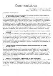 English worksheet: Business - communication