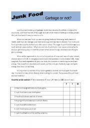 English Worksheets: Garbage