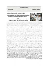 English Worksheet: Test on Working Conditions- Factory in China