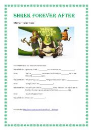 english teaching worksheets shrek