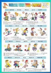 English Worksheet: Phrasal Verbs (Fourteenth series). Exercises (Part 2/3). Key included!!!