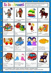 English Worksheet: TO BE - PRESENT (AFFIRMATIVE, NEGATIVE AND INTERROGATIVE) + KEY