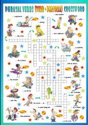 English Worksheet: Phrasal Verbs (Fourteenth series). Crossword (Part 3/3)