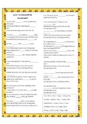 English Worksheet: You belong with me by Taylor Swift