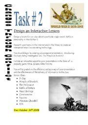 English Worksheets: Design a World War 2 lesson