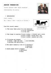 English Worksheet: Amish Paradise worksheet
