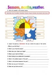 english teaching worksheets months of the year. Black Bedroom Furniture Sets. Home Design Ideas
