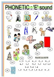 English Worksheets: PHONETIC : Vowel sounds  2 of 5 ( 2c)