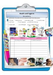 heath and hygiene - do´s and dont´s