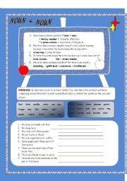 English Worksheets: NOUN + NOUN