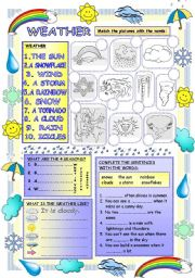 English Worksheet: Elementary Vocabulary Series15 – Weather
