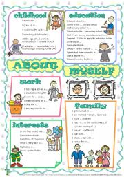 English Worksheet: About myself