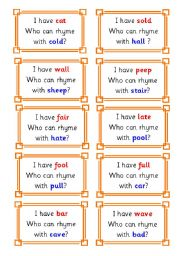 English Worksheet: rhyme