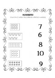 math worksheet : english worksheet numbers from 6 to 10 : Numbers 6 10 Worksheets For Kindergarten