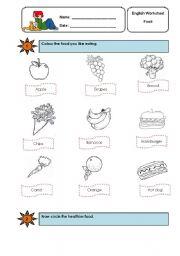 Healthy And Junk Food Worksheet Esl Printable Worksheets Made By Teachers
