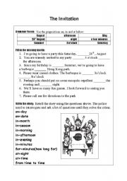 English Worksheet: The Invitation