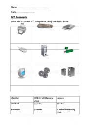 English Worksheets: ICT Components