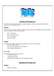 English Worksheet: TOEIC