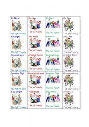 English Worksheets: Happy Spelling Families