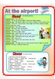 English Worksheet: At the airport!