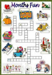 English Worksheet: months fun