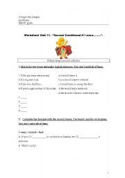 English worksheet: If I were rich....