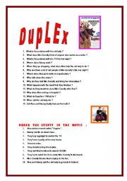 English Worksheets: Duplex, the movie