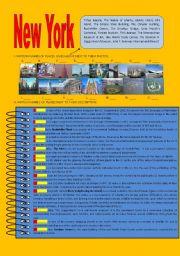 English Worksheet: New York City  landmarks (fully editable,+answer key!)
