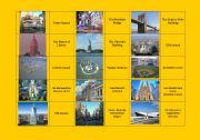 English Worksheet: New York City landmarks DOMINOES (fully editable)