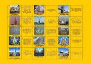 English Worksheet: New York City landmarks DOMINOES (picture/name + definition)  (fully editable)