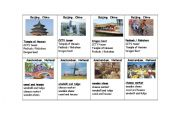 English Worksheets: Cities Around the World - GO FISH GAME